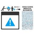 Error Calendar Page Icon With 1000 Medical vector image vector image
