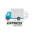 express delivery icon concept truck service vector image vector image