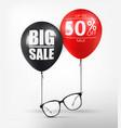 eyeglasses sale banner concept black optical vector image vector image