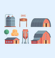 farm buildings rural constructions agricultural vector image vector image