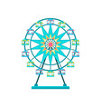 ferris wheel amusement park element vector image