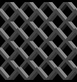 gray grid on black background abstract seamless vector image