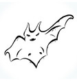 hand drawn bat isolated on white background vector image