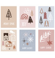 hand drawn christmas and new year greeting cards vector image vector image