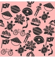 Hand drawn Vietnam pattern vector image