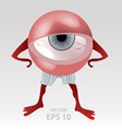 Human tired eye mascot vector image vector image