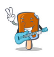 ice cream character cartoon with guitar vector image vector image