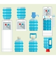 icons of water cooler appliance vector image vector image