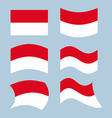 Indonesian flag Set of flags of Indonesian vector image