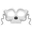 isolated halloween skull mask vector image