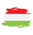 isolated hungarian flag vector image vector image
