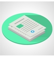 isometric flat of documents vector image