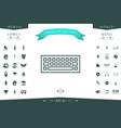 keyboard icon symbol vector image vector image