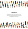 large group of people in the shape of border vector image