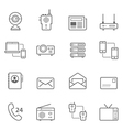 Lines icon set - communication devices vector image