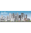 London Skyline with Gray Buildings vector image vector image