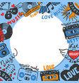 love music round pattern let vector image