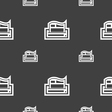 Newspaper icon sign Seamless pattern on a gray vector image vector image