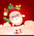 old santa with a bag of gifts vector image vector image