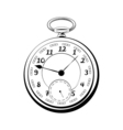 old vintage pocket watch antique isolated on white vector image vector image
