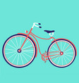 retro female bike vintage bicycle vector image
