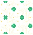 Seamless texture with clover of four leaves vector image vector image