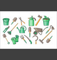 set of garden accessories for cultivating vector image vector image