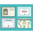 set of gift certificates Great for vector image