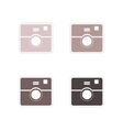 Set of paper stickers on white background camera vector image vector image