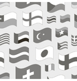 Set of world flags pattern vector image vector image