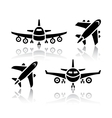 set transport icons - plane vector image