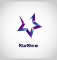 shiny purple blue purple star logo symbol sign vector image vector image