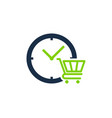shop time logo icon design vector image vector image