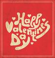 Typographic Valentines Template vector image vector image