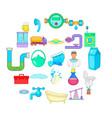 wash the apartment icons set cartoon style vector image vector image