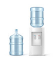 water cooler and big bottle for office and home vector image vector image