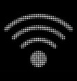 wi-fi source halftone icon vector image vector image