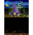 Witch hat and cauldron vector image vector image