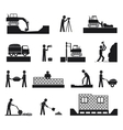 Set of builder construction industry icons vector image