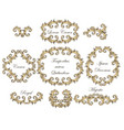 baroque swirl frames set vector image