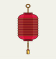 flat design chinese new year red paper lantern vector image