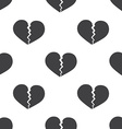 broken heart seamless pattern vector image