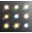 Sunshine Design Elements Icon Set vector image