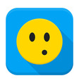 Surprised Yellow Smiley App Icon vector image