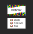 252business card 2 vector image vector image