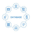 8 database icons vector image vector image