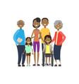 african grandparents parents children girl vector image vector image