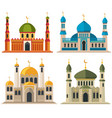 arabic muslim mosques and minarets vector image