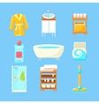 Bathroom Things Set vector image vector image