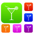 beach cocktail set collection vector image vector image